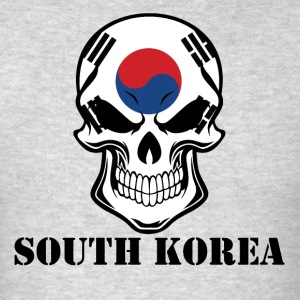 Korean Flag Skull South Korea - Men's T-Shirt