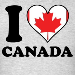 I Love Canada Canadian Flag Heart - Men's T-Shirt