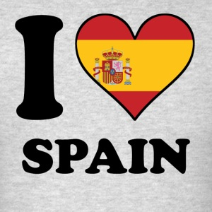 I Love Spain Spanish Flag Heart - Men's T-Shirt