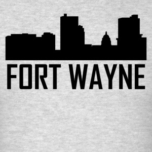 Fort Wayne Indiana City Skyline - Men's T-Shirt
