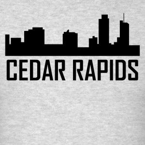 Cedar Rapids Iowa City Skyline - Men's T-Shirt
