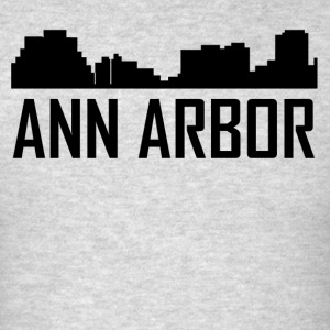Ann Arbor Michigan City Skyline - Men's T-Shirt