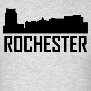 Rochester Minnesota City Skyline - Men's T-Shirt