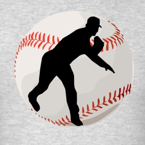 Baseball Pitcher Silhouette - Men's T-Shirt