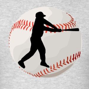 Baseball Batter Silhouette - Men's T-Shirt