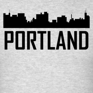 Portland Maine City Skyline - Men's T-Shirt