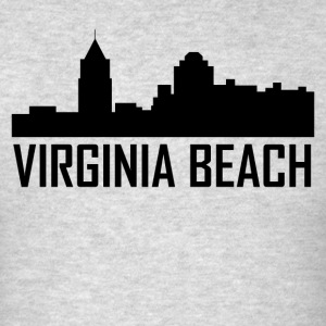 Virginia Beach Virginia City Skyline - Men's T-Shirt