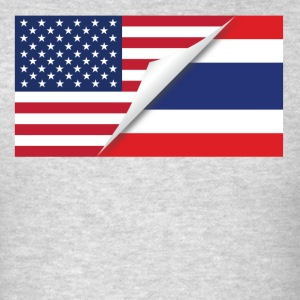 Half American Half Thai Flag - Men's T-Shirt
