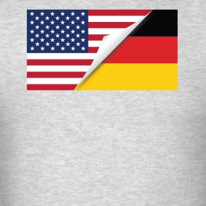Half American Half German Flag - Men's T-Shirt