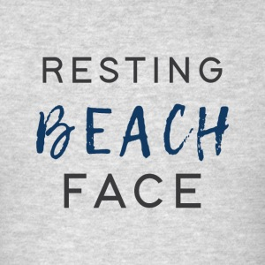 Resting Beach Face - Men's T-Shirt