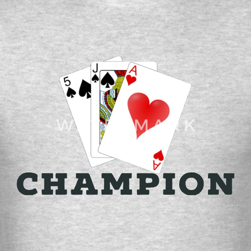 Card Game 45s Champion. - Men's T-Shirt