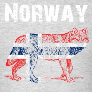 Nation-Design Norway Wolf - Men's T-Shirt