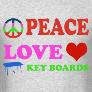 Peace love Keyboards - Men's T-Shirt
