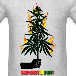 Cannabis On Fire T-shirts - Men's T-Shirt