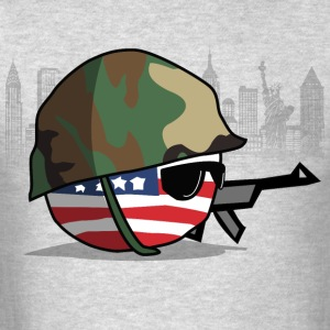 AmericaBall Soldier Protecting USA - Men's T-Shirt