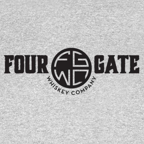 Four Gate Whiskey Company Black Logo - Men's T-Shirt