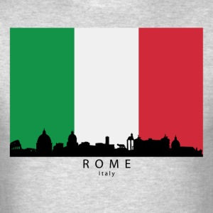 Rome Italy Skyline Italian Flag - Men's T-Shirt