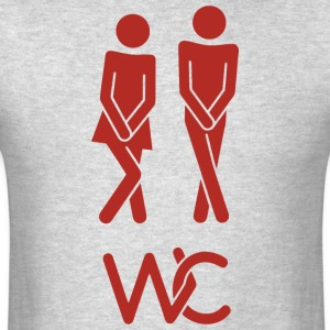 Real toilet sign - Men's T-Shirt