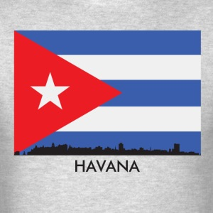 Havana Cuba Skyline Cuban Flag - Men's T-Shirt