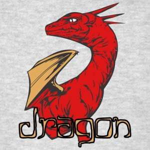 dragon_looking_back_color - Men's T-Shirt