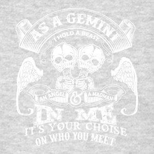 As a gemini I hold a beast An Angel and a madman - Men's T-Shirt