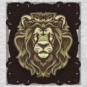 lion_head_with_ornaments - Men's T-Shirt