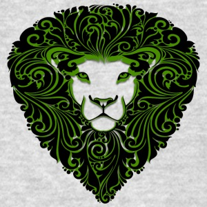lion_with_ornament_hairs_black_green - Men's T-Shirt