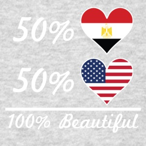 50% Egyptian 50% American 100% Beautiful - Men's T-Shirt