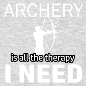 Archery is my therapy - Men's T-Shirt