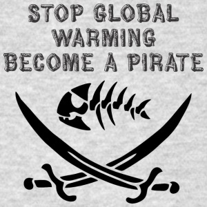 stop global warming and become a pirate - Men's T-Shirt