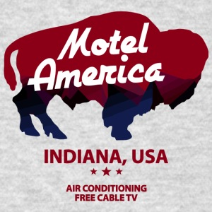 Indiana Of Motel America Free - Men's T-Shirt