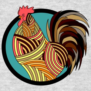 Colorful Rooster - Men's T-Shirt