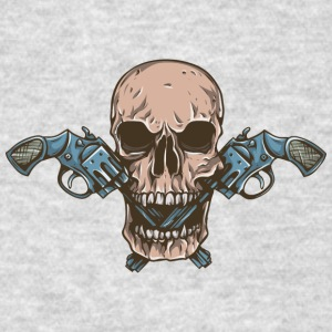 skull_with_western_guns - Men's T-Shirt
