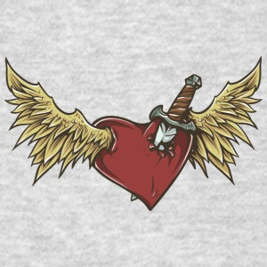 flying_heart_with_wings - Men's T-Shirt
