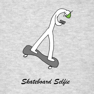 Skateboard Selfie (Seeking the Big Nature novel) - Men's T-Shirt