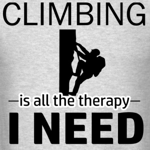 Climbing is my therapy - Men's T-Shirt