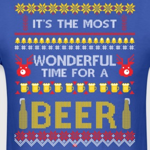It's the most wonderful time for a beer - Men's T-Shirt