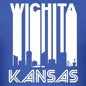 Retro Wichita Skyline - Men's T-Shirt