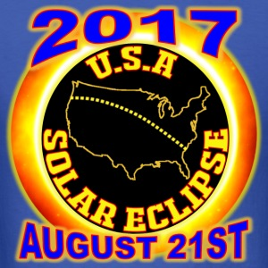 2017 USA Total Solar Eclipse Star Gaze August 21st - Men's T-Shirt