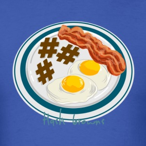 Hashtag Breakfast Plate - Men's T-Shirt