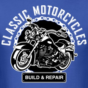 Classic Motorcycles Build & Repair - Men's T-Shirt