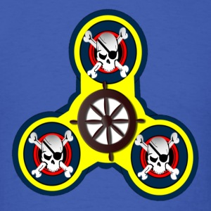 Fidget Spinner - CROSS BONES AND SKULLS - Men's T-Shirt