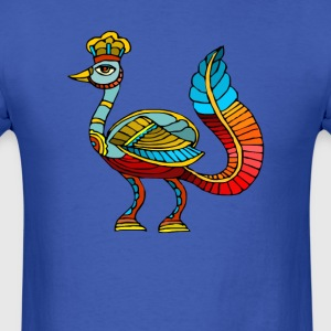 Ancient Egyptian Painting - Peacock Deity - Men's T-Shirt