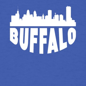 Buffalo NY Cityscape Skyline - Men's T-Shirt