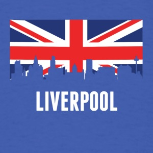 British Flag Liverpool Skyline - Men's T-Shirt