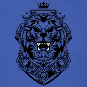 Lion king of beasts tattoo shape king crown - Men's T-Shirt