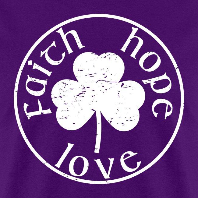 Irish Shamrock Faith Hope Love