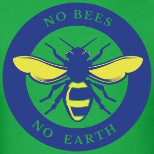 No Bees - No Earth - Men's T-Shirt