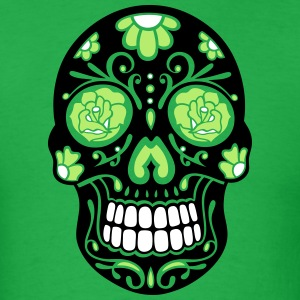 Traditional Mexican sugar skull, day of the dead. - Men's T-Shirt