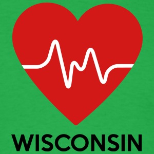 Heart Wisconsin - Men's T-Shirt